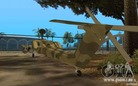 MI-28n für GTA San Andreas zurück linke Ansicht