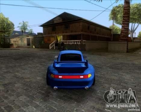 Porsche 911 GT2 RWB Dubai SIG EDTN 1995 pour GTA San Andreas vue arrière
