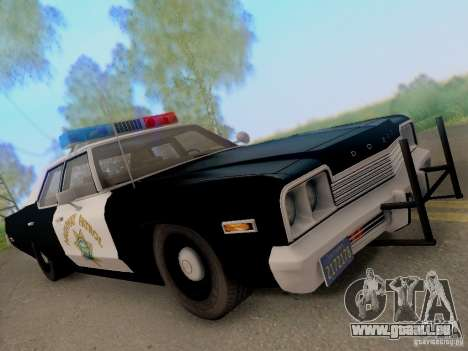 Dodge Monaco 1974 California Highway Patrol für GTA San Andreas Rückansicht