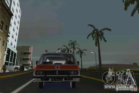 RAF-22031 Ambulance pour GTA Vice City sur la vue arrière gauche