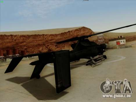 RQ-50 Hammerhead pour GTA San Andreas laissé vue