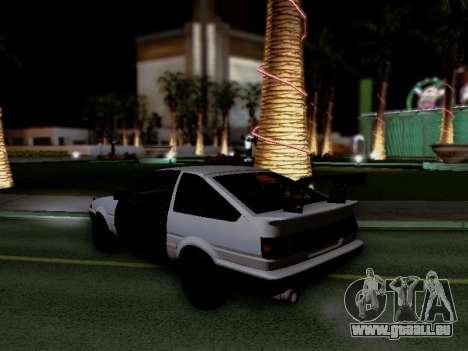 Toyota Sprinter Trueno AE86 GT-Apex Kouki pour GTA San Andreas vue de droite