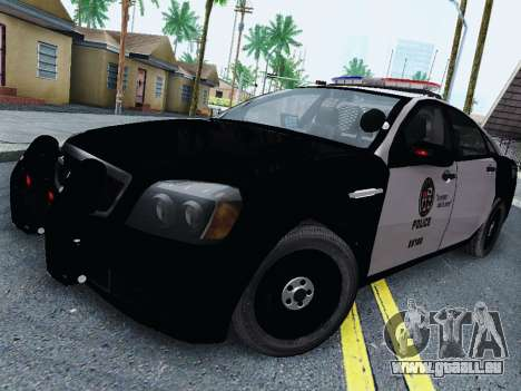 Chevrolet Caprice 2011 Police pour GTA San Andreas