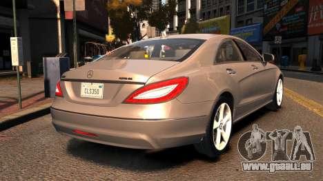 Mercedes-Benz DK CLS350 für GTA 4 hinten links Ansicht