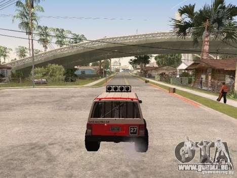 Jeep Cherokee 1984 pour GTA San Andreas vue de dessus