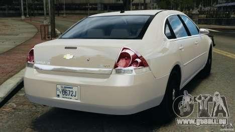 Chevrolet Impala Unmarked Detective [ELS] pour GTA 4 Vue arrière de la gauche