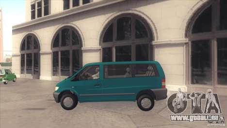 Mercedes-Benz Vito 112 pour GTA San Andreas laissé vue
