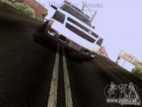 Chevrolet Avalanche 2007 pour GTA San Andreas vue arrière
