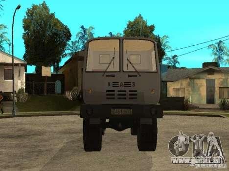 Camion à benne basculante KAZ 4540 pour GTA San Andreas vue arrière