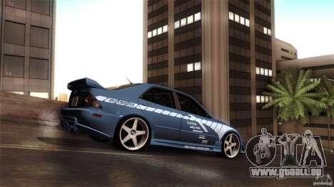Lexus IS 300 Veilside für GTA San Andreas Rückansicht