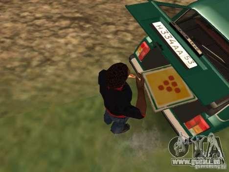 CJ affamé v. 3 final pour GTA San Andreas quatrième écran