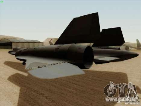 YF-12A pour GTA San Andreas vue arrière