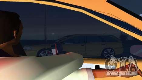 VOLVO V40 pour une vue GTA Vice City de l'intérieur