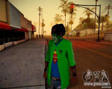 Skins pack gang Grove pour GTA San Andreas