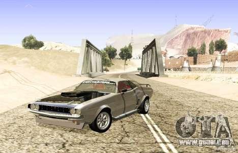 Dodge Charger 1969 SpeedHunters pour GTA San Andreas sur la vue arrière gauche