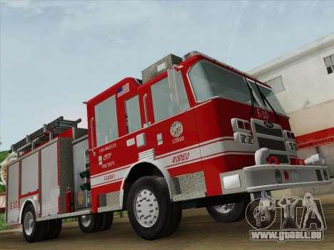 Pierce Saber LAFD Engine 10 pour GTA San Andreas vue de dessous