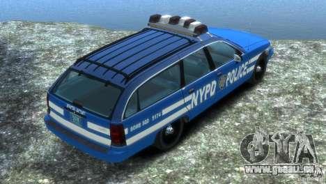 Chevrolet Caprice Police Station Wagon 1992 pour GTA 4 est une gauche