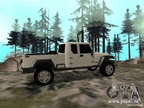 Jeep Gladiator pour GTA San Andreas vue de droite
