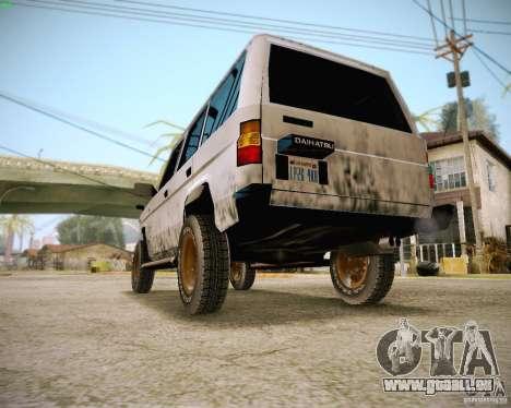 Daihatsu Taft Hiline Long für GTA San Andreas Rückansicht