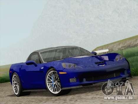 Chevrolet Corvette ZR1 für GTA San Andreas Rückansicht
