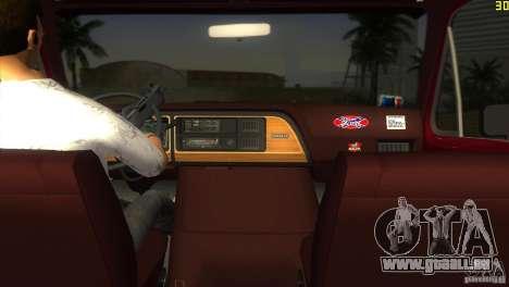 Ford E-150 Gang Burrito pour une vue GTA Vice City de la gauche
