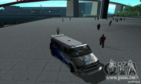 Ford Transit Supervan 3 2004 für GTA San Andreas Innenansicht