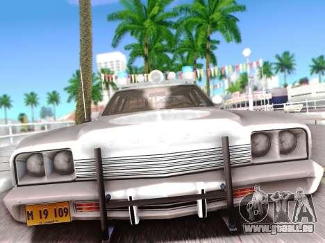 Dodge Monaco 1974 pour GTA San Andreas sur la vue arrière gauche