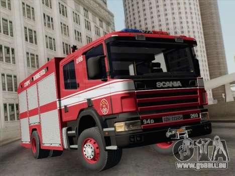 Scania 94D-260 Corpo Bombeiros SP pour GTA San Andreas laissé vue