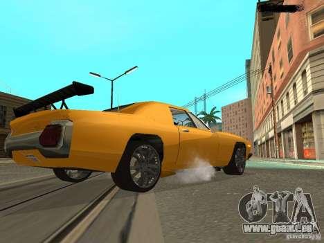 Stallion HD pour GTA San Andreas sur la vue arrière gauche
