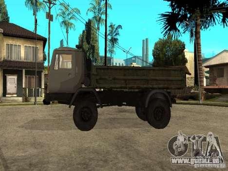 Camion à benne basculante KAZ 4540 pour GTA San Andreas laissé vue