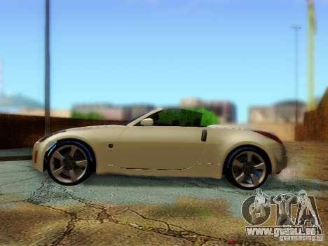 Nissan 350Z Cabrio für GTA San Andreas rechten Ansicht