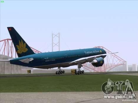 Boeing 777-2Q8ER Vietnam Airlines pour GTA San Andreas moteur