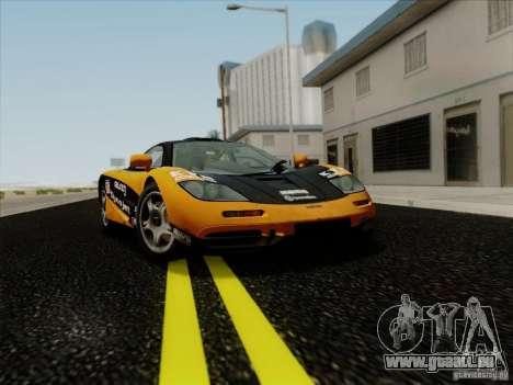 McLaren F1 1994 v1.0.0 pour GTA San Andreas vue de côté