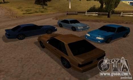 Ford Mustang SVT Cobra 1993 pour GTA San Andreas vue arrière