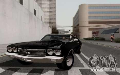 Chevrolet Chevelle SS 454 1970 für GTA San Andreas Rückansicht