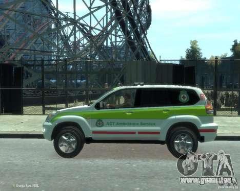 Toyota Land Cruiser Prado Police pour GTA 4 est une gauche