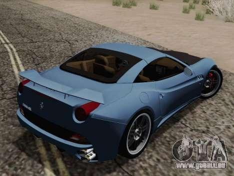 Ferrari California pour GTA San Andreas vue de dessous
