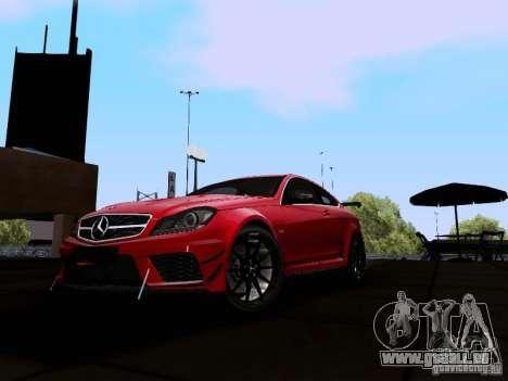 Mercedes-Benz C63 AMG 2012 Black Series für GTA San Andreas