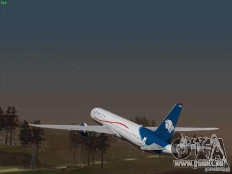 Boeing 787-8 Dreamliner AeroMexico pour GTA San Andreas vue arrière