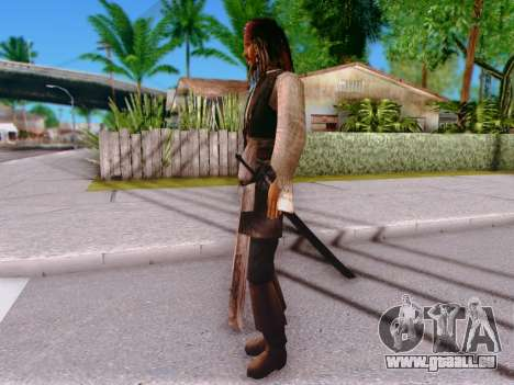 Jack Sparrow pour GTA San Andreas quatrième écran