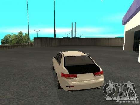 Hyundai Sonata 2008 pour GTA San Andreas laissé vue