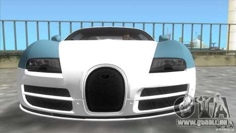 Bugatti ExtremeVeyron pour GTA Vice City sur la vue arrière gauche