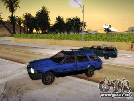 Nissan Bluebird Wagon pour GTA San Andreas sur la vue arrière gauche