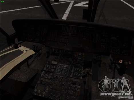 S-70 Battlehawk pour GTA San Andreas vue arrière