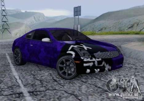 Infiniti G35 für GTA San Andreas Innen