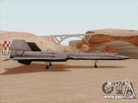 YF-12A für GTA San Andreas zurück linke Ansicht