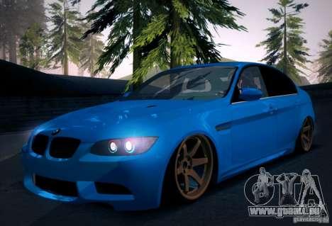 BMW M3 E90 pour GTA San Andreas salon