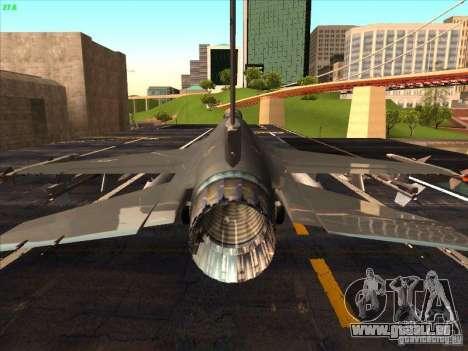 F-16C Fighting Falcon für GTA San Andreas Innenansicht