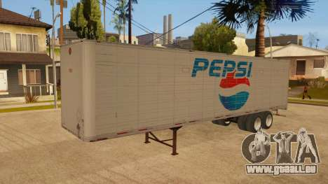 Ganzmetall-trailer für GTA San Andreas Innen