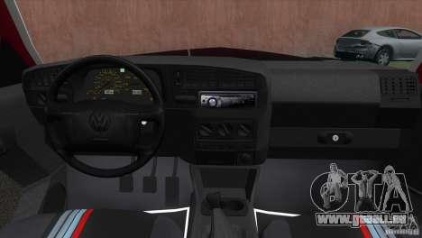 Volkswagen Golf GTI 1994 pour GTA Vice City sur la vue arrière gauche